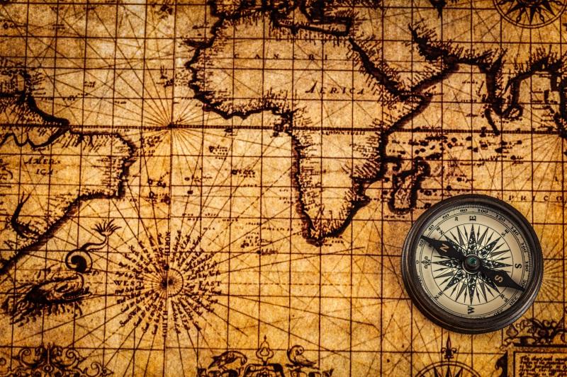 vintage map verden