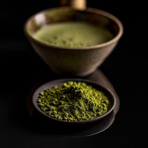 groen matcha te pulver