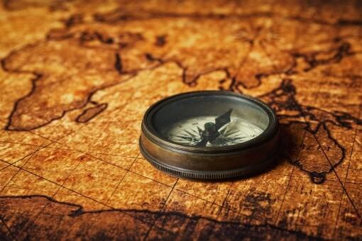 kompas verden vintage