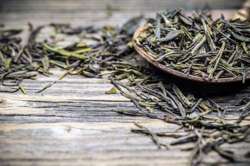 grøn te mobil billed