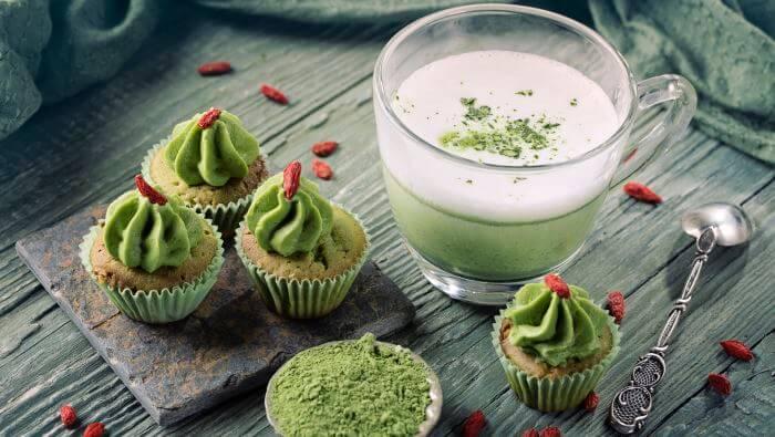 matcha kop kager grøn, grøn te, guide, historie, hvad er, hvordan fremstilles, matcha, matcha te