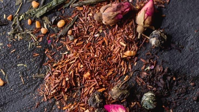 rooibos te bord blomst afrika, afrikansk, guide, historie, hvad er, hvordan fremstilles, rooibos, rooibos te, te