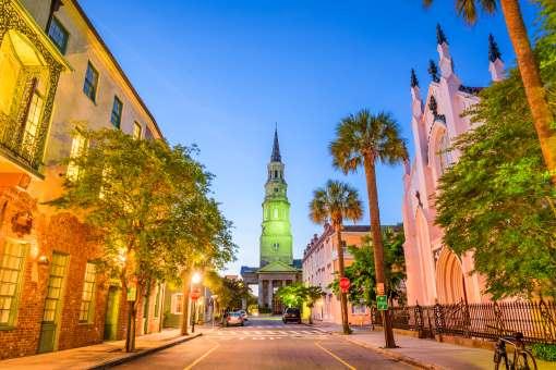 Charleston i South Carolina i USA