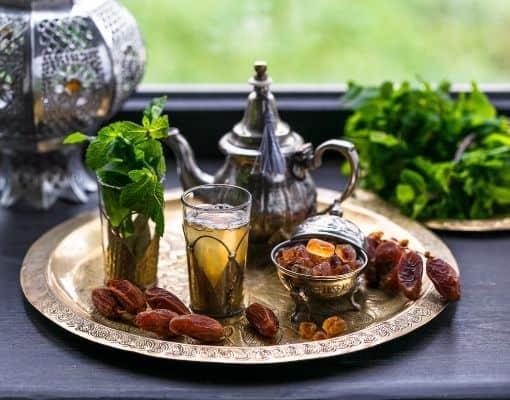 marokkansk te mynte